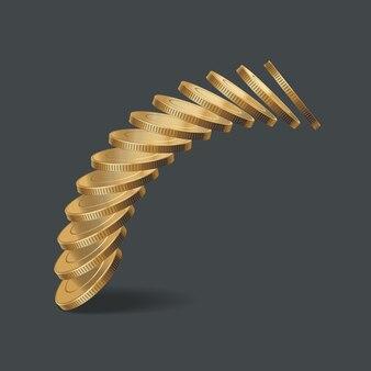 Ilustração de pilha de moedas de ouro