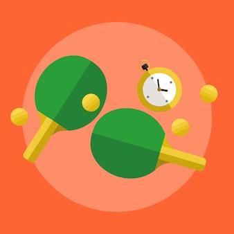 Ilustração de ping pong de tênis de mesa