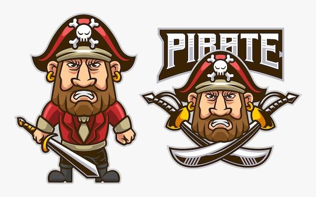 Ilustração de pirata gordinho