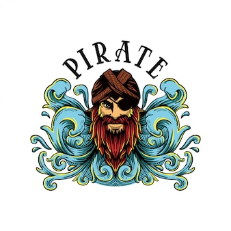 Ilustração de pirata javanês