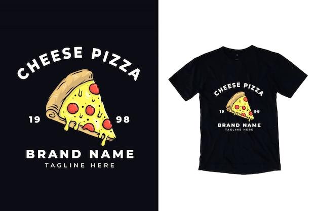 Ilustração de pizza de queijo para design de camiseta