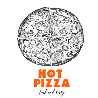 Ilustração de pizza.