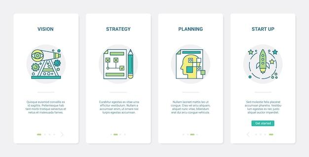 Ilustração de planejamento de inicialização de estratégia de visão