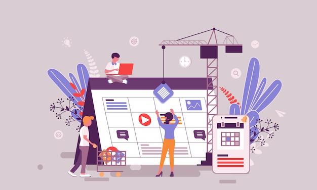 Ilustração de planejamento de negócios