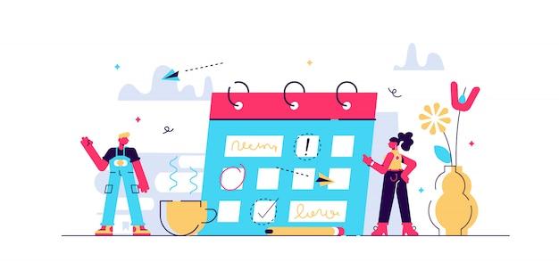 Ilustração de planejamento.
