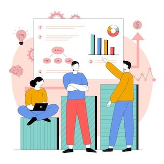Ilustração de plano de negócios plano orgânico