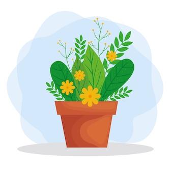 Ilustração de planta dentro do vaso