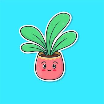 Ilustração de planta fofa