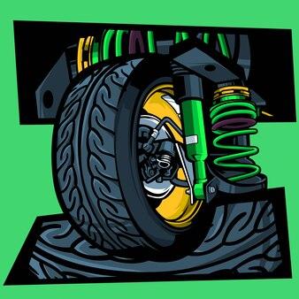 Ilustração de pneu