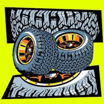 Ilustração de pneus