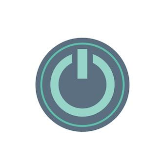 Ilustração, de, poder, botão