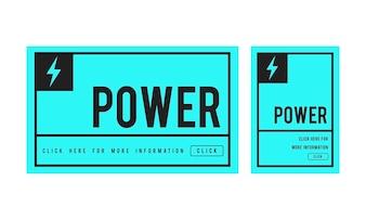 Ilustração, de, poder, conceito