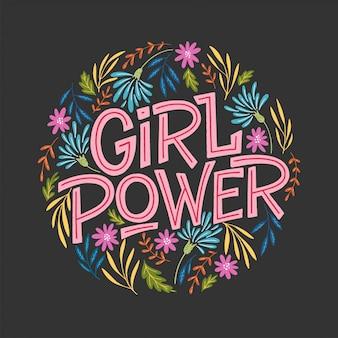 Ilustração de poder de menina