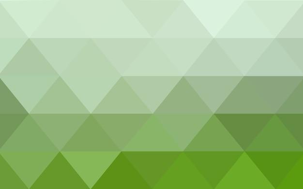 Ilustração de poligonal de vetor luz verde