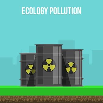 Ilustração de poluição ambiental