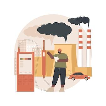 Ilustração de poluição do ar
