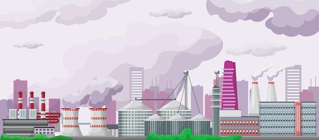 Ilustração de poluição e ambiente