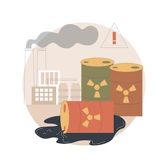 Ilustração de poluição radioativa