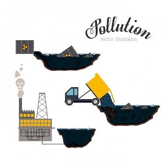 Ilustração de poluição.