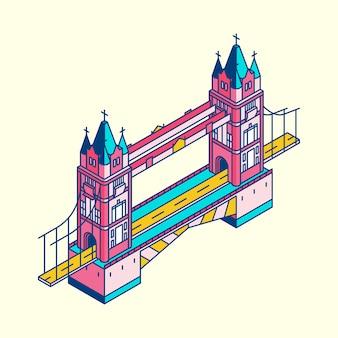 Ilustração, de, ponte londres, em, reino unido