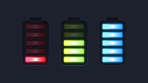 Ilustração de porcentagem da bateria