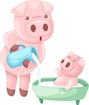 Ilustração de porco