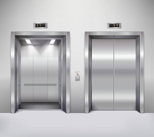 Ilustração de porta de elevador
