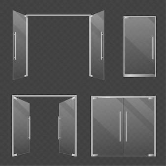 Ilustração de portas de vidro