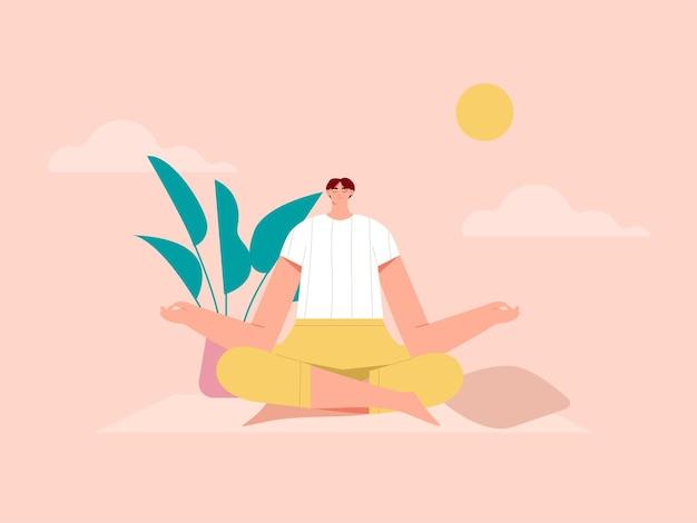 Ilustração de poses de ioga para mulher