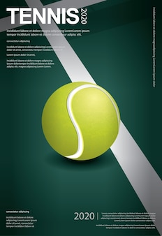 Ilustração de pôster de campeonato de tênis