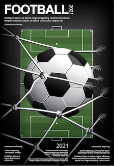 Ilustração de pôster de futebol americano