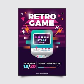 Ilustração de pôster de jogos retrô