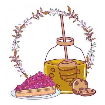 Ilustração de pote de mel isolado