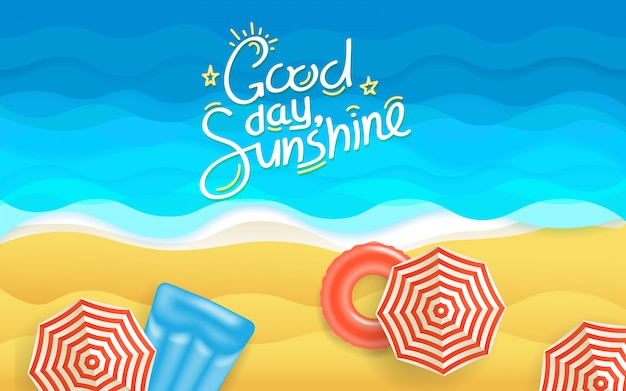 Ilustração de praia de verão