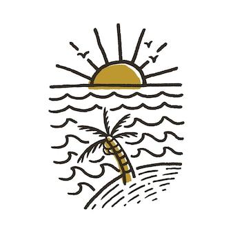 Ilustração de praia verão