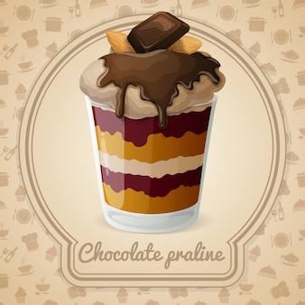 Ilustração de praliné de chocolate