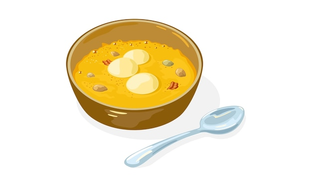 Ilustração de prato tradicional asiático