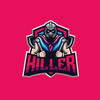 Ilustração de prémio de logotipo de esporte assassino