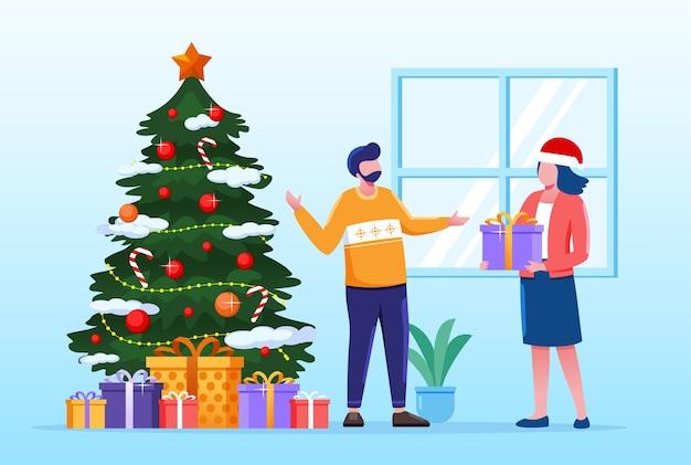 Ilustração de presente de natal