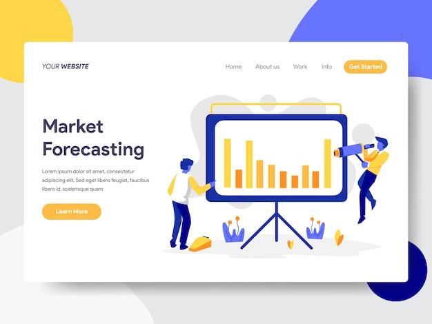 Ilustração de previsão de mercado