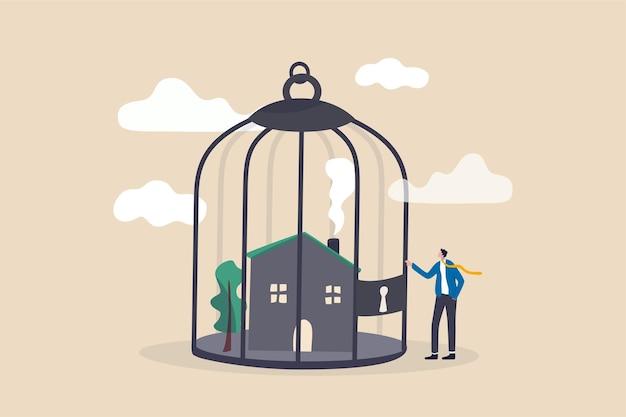 Ilustração de problema de pagamento de hipoteca