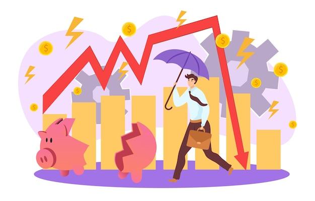 Ilustração de problemas de negócios