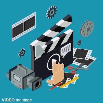 Ilustração de produção de vídeo