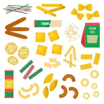 Ilustração de produtos de massa.