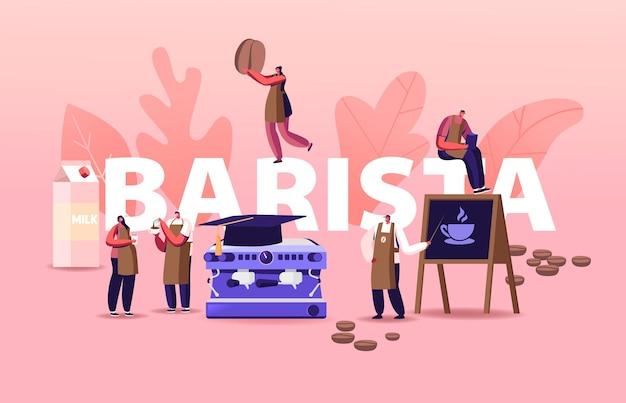 Ilustração de profissão de barista