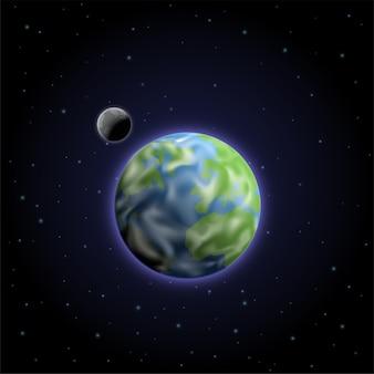Ilustração de programa espacial moderno