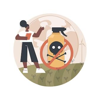 Ilustração de proibição de herbicida