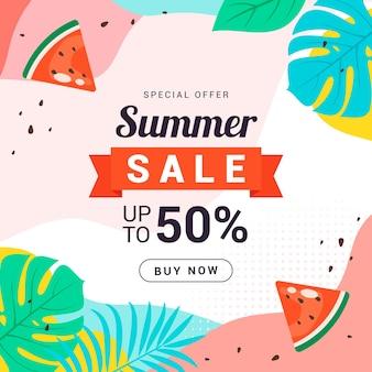 Ilustração de promoção de venda de verão