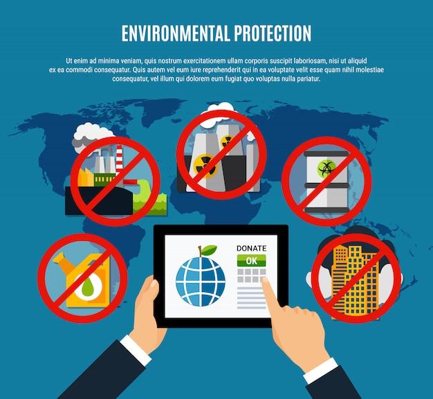 Ilustração de proteção ambiental