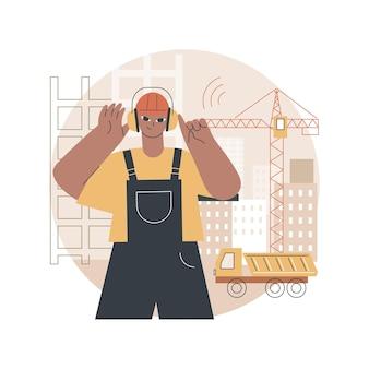 Ilustração de proteção contra ruído